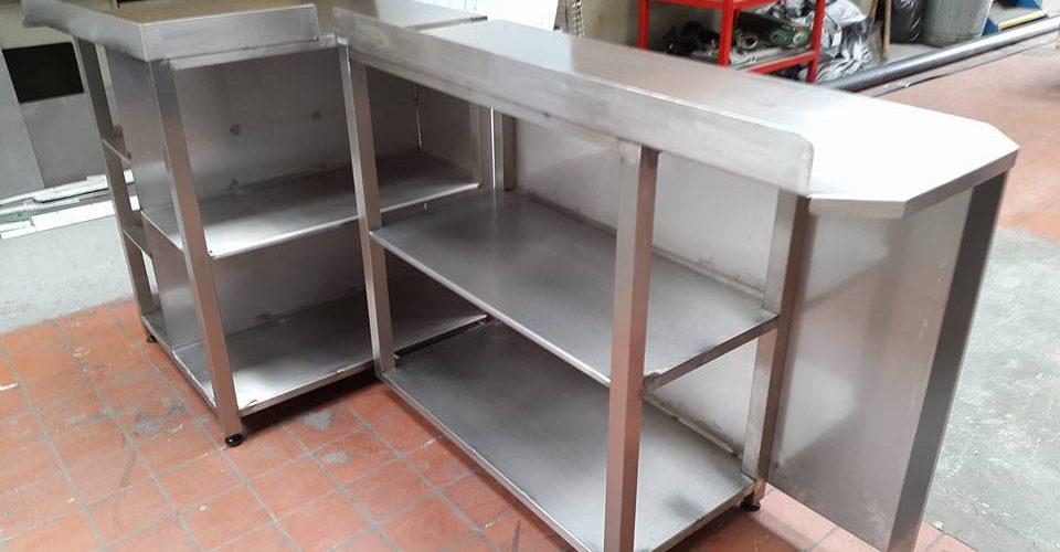 custom made stainless steel restaurant counter