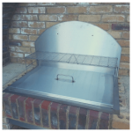 custom stainless steel barbecue with lid