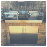 Outdoor kitchen stainless steel barbecue