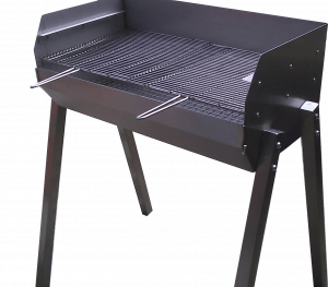 SS2 adjustable height Stainless Steel Charcoal barbecue