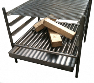Stainless Steel Cube Fire pit & grill