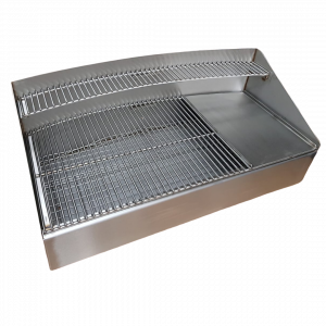 custom made curved stainless steel barbecue