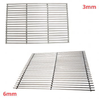 different thickness custom stainless steel grills and grates